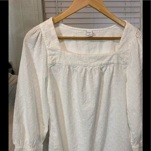White Old Navy 3/4 sleeve top